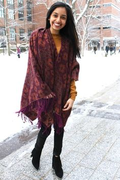 STYLE ADVICE OF THE WEEK: Blanket Poncho | CollegeFashionista