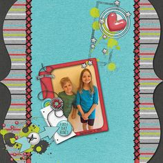 First Day Blues Credits:  Back to School Blues (Grab Bag), Jen Yurko Font Used: DJB Play Misty For Me Available At:  http://scraptakeout.com/shoppe/Back-to-School-Blues-Grab-Bag.html