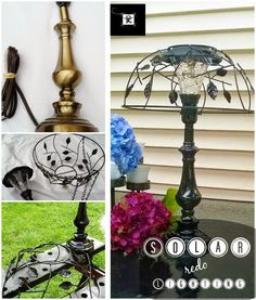 8 projects for solar lights.  Redo It Yourself Inspirations : Cut the Cord: Solar Lighting Part 2
