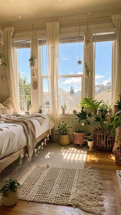 Room Design Bedroom, Room Ideas Bedroom, Bedroom Inspo, Dream Rooms, Dream Bedroom, Pretty Room, Aesthetic Room Decor, Cozy Room, Dream Home Design