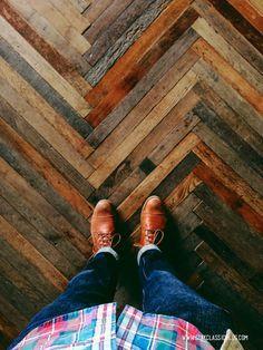 herringbone wood floor.