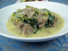 Arni Frikase: Lamb and lettuce (or greens) in egg-lemon sauce Lamb Recipes, Greek Recipes, Wine Recipes, Cooking Recipes, Healthy Recipes, My Favorite Food, Favorite Recipes, Pastry Cook, Greek Cooking