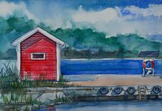 Coastal Landscapes (watercolors) on Behance 3 Watercolor Landscape, Painting & Drawing, Watercolors, Coastal, Landscapes, Behance, Fine Art, Drawings, Paisajes