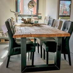 HACO Vlaardingen | Ruime keus & Snel leverbaar! Dining Table, Rustic, Showroom, Furniture, Design, Home Decor, Style, Country Primitive, Swag