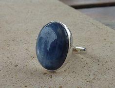 Blue Kyanite ring Natural Kyanite gemstone ring Kyanite by anakim, $128.00