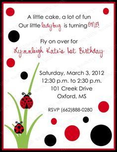 free ladybug party invitations from printablepartyinvitations