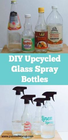Want to make an essential oil spray but can't because you don't have a bottle? Learn how to easily make your own DIY upcycled glass spray bottles!