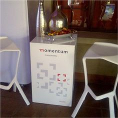 Portable Exhibition stand for client event #branding #display #rubyoriginal