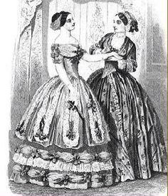 Did you know that before 1850 over of people handstiched their own clothes! Go girls! Victorian Era Fashion, 1850s Fashion, Victorian Costume, Victorian Women, Vintage Fashion, Norwegian Fashion, 1800s Clothing, Victoria Reign, Vintage Friends