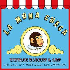 LA MONA CHECA Vintage Market & Art. Take me back to Madrid.