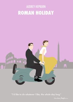 Roman Holiday - Minimalist Audrey Hepburn Movie Poster by Posteritty