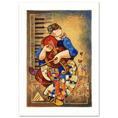 """Precious Violin"" Edition Serigraph by Dorit Levi Numbered Signed w COA New 