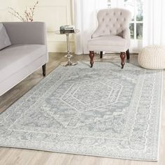 Shop for Safavieh Adirondack Vintage Slate Grey / Ivory Rug (5'1 x 7'6). Get free shipping at Overstock.com - Your Online Home Decor Outlet Store! Get 5% in rewards with Club O! - 18641001