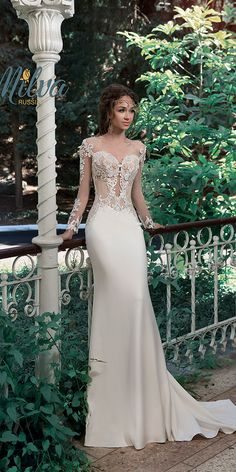 "Vintage Wedding Dresses Milva 2017 Wedding Dresses – Sunrise Collection - Milva, a bridal house whose wedding dresses are designed with the elegant and classic bride in mind. The 2017 ""Sunrise"" bridal collection is gorgeous. Bridal Wedding Dresses, Dream Wedding Dresses, Wedding Attire, Bridesmaid Dresses, 2017 Wedding, Wedding Outfits, Trendy Wedding, Wedding Ideas, Dresses Elegant"