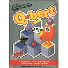 Few games of the early were as infectious as Q*bert. His cuddly quality combined with the seemingly simplistic objective (that was never as simple as it looked) made this an arcade favorite with all types of gamers. Vintage Videos, Vintage Video Games, Classic Video Games, Retro Video Games, Video Game Art, Retro Games, Vintage Games, Space Invaders, Games Box
