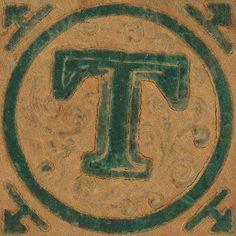 Vintage Wooden Block Letter T  Wooden Block Letters Block