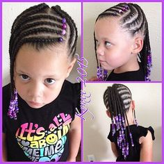 #braidsandbeads #cornrows #healthybraids #birthdaygirl#childrensnaturalhairstylist #Kynxx