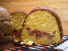 Lemon Rhubarb Bundt