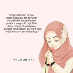 Credit : in pict by @ Islamic Love Quotes, Islamic Inspirational Quotes, Muslim Quotes, Reminder Quotes, Self Reminder, Islamic Websites, Jodoh Quotes, Islamic Posters, Islamic Art