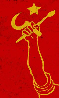 Protest Posters, Political Posters, Political Art, Revolution Poster, Hammer And Sickle, Art Folder, One Piece Manga, Communism, Cool Logo