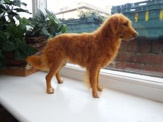 Nova Scotia Duck Tolling Retriever Dog  This is one of my own needle felted dogs #ChicktinCreations