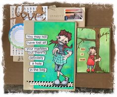 Artwork created by Leane Green using rubber stamps designed by Daniel Torrente for Stampotique Originals