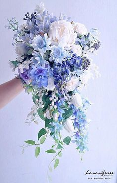 Spring dusty blue bouquet – wedding dress spring wedding – hashtags} – … – Bouquet Of Sunflowers Wedding Flower Guide, Summer Wedding Bouquets, Blue Wedding Flowers, Bride Bouquets, Flower Bouquet Wedding, Spring Wedding, Floral Wedding, Wedding Colors, Bouquet Flowers