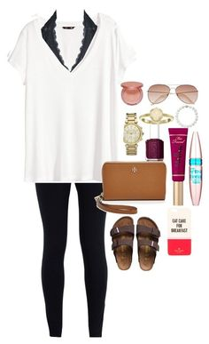 Inspirational❤️ by ravenpen on Polyvore featuring Kendra Scott, HM, Michael Kors, Maybelline, NIKE, Free People, Essie, Birkenstock, Tory Burch and tarte