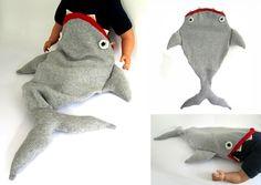 #DIY Baby Shark Sleeping Bag by The Miniature Knit Shop