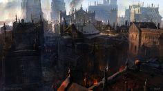 Endless Story Environment sketch 3, Sergey Musin on ArtStation at https://www.artstation.com/artwork/18yx8