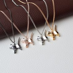 Necklace Origami Cat Kitty Pendant Necklace Suspend Creative Minimalist Animal Childlike Rose Gold Silver Black Pensonality Jewelry * This is an AliExpress affiliate pin. View the item in details on AliExpress website by clicking the VISIT button Origami Necklace, Cat Necklace, Necklace Price, Pendant Necklace, Cat Jewelry, Animal Jewelry, Jewelry Gifts, Jewelry Accessories, Gato Origami