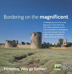 Advert for Flintshire County Council Flint Castle, White Fox, Fox Design, Corporate Identity, Wales, Editorial, Welsh Country, Brand Identity, Welsh