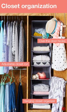 Get the most out of your dorm room closet with a few tried and true ways to maximize closet space. Adjustable clothing rods will up your clothes hanging power and a closet organizer will easily hold sweaters, hoodies, jeans and accessories. Store bulky clothes in stackable storage (they're also perfect for hiding clutter). Check out your outfit in a full-length, over-the-door mirror. Hang your favorite things from bags to towels to jewelry on over-the-door hooks, designed by students.