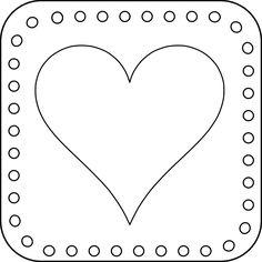 free digital stamps | Free Valentine's Day Digital Stamp - Simple Heart Tile Free Digital ...