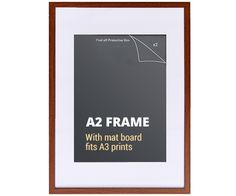 A2 Dark Wood Walnut Picture Frame