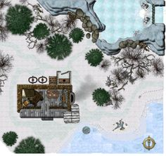 Forums: Trappers Cabin Winter Cache Pathfinder maps Map Fantasy map