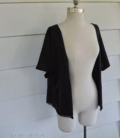 WobiSobi: No Sew Kimono with Fringe.