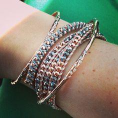 Rose gold layered bracelets by Stella & Dot