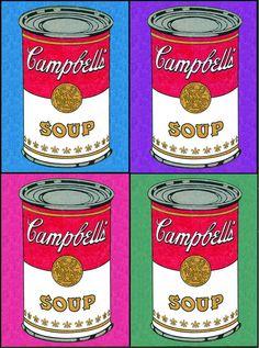 New andy warhol art for kids famous artists Ideas Pop Art Food, Andy Warhol Pop Art, Summer Art Projects, Monster Concept Art, Fantasy Art Men, Mini Canvas Art, Fabric Wall Art, Arte Pop, Illustrations