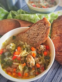Italian Wedding Soup. This is a healthy version of this delicious soup but still delivers on the perfect taste and marriage of flavors that this soup has to offer. Simple and delicious.  #Diabeticfood #Italianweddingsoup