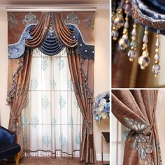 The curtains extreme quality the blind Vivian fashion quality chenille jacquard curtain Blinds tulle the blinds Luxury curtains Curtains Living, Diy Curtains, Curtains With Blinds, Fabric Shower Curtains, Bedroom Curtains, Window Drapes, Window Coverings, Window Treatments, Living Room Modern