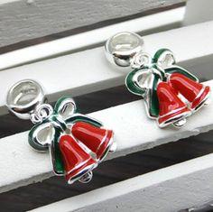 925 Sterling Silver Christmas Bell Pendant DIY Findings LFJ44