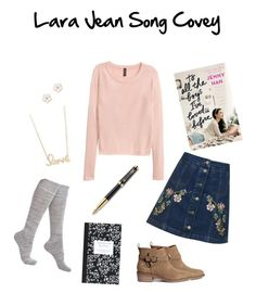 """""""Lara Jean Song Covey"""" by marthepoes on Polyvore featuring mode, Jenny Han, Legale, Sydney Evan, Dot & Bo, Parker, Accessorize en Topshop"""