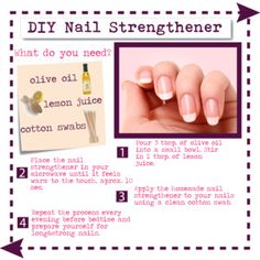 Diy nail strengthener for strong healthy shiny nails diy nail strengthener solutioingenieria Image collections