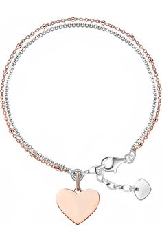 THOMAS SABO - 18ct rose gold and sterling silver Love Bridge bracelet | Selfridges.com
