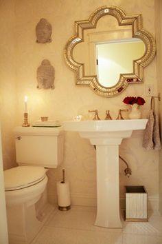 "Small Powder Rooms Design Ideas,  .Koehler toilet.  Nice sink.  room is 4'3"" x 7'4"""
