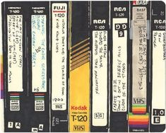 Labelling VHS tapes. Remembering the 70's.