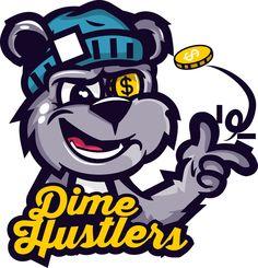 Dime Hustlers Bear Tee by Jason Arroyo , via Behance [vector character art ']