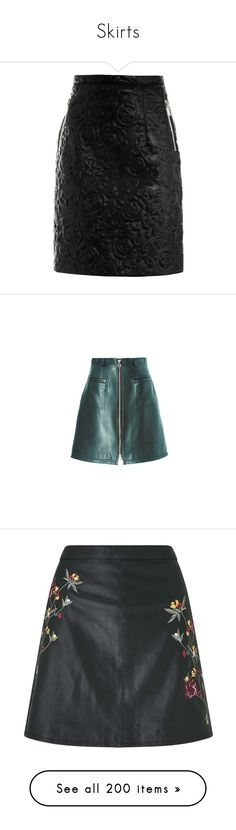 """""""Skirts"""" by floriane97 ❤ liked on Polyvore featuring skirts, bottoms, saias, christopher kane, zip back skirt, zip skirt, leather zipper skirt, back zipper skirt, slimming skirts and mini skirts"""