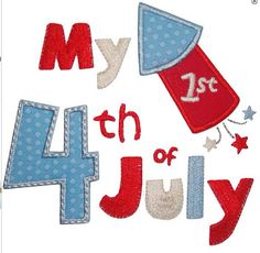 Baby Onesie  My First 4th of July by SweatPeaStitches on Etsy, $15.00